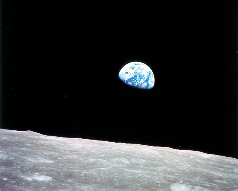 Première image de la Terre, Mission Apollo 8, décembre 1968.